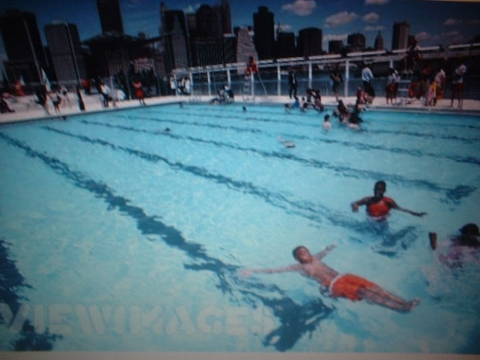 The Floating Pool at Brooklyn Bridge Park Beach
