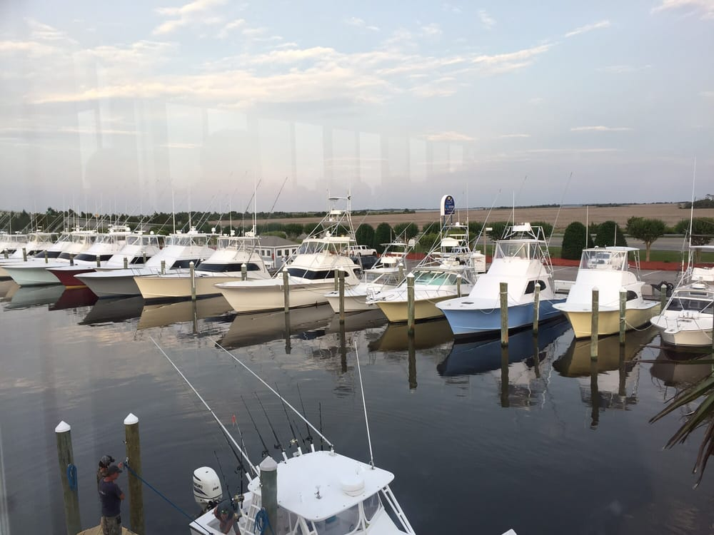 View from our seat on the covered ac patio yelp - Blue water bar and grill ...