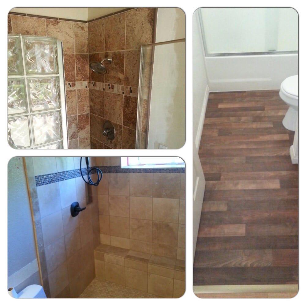 Dry rot repair. Termite damage repair. New tile shower ...