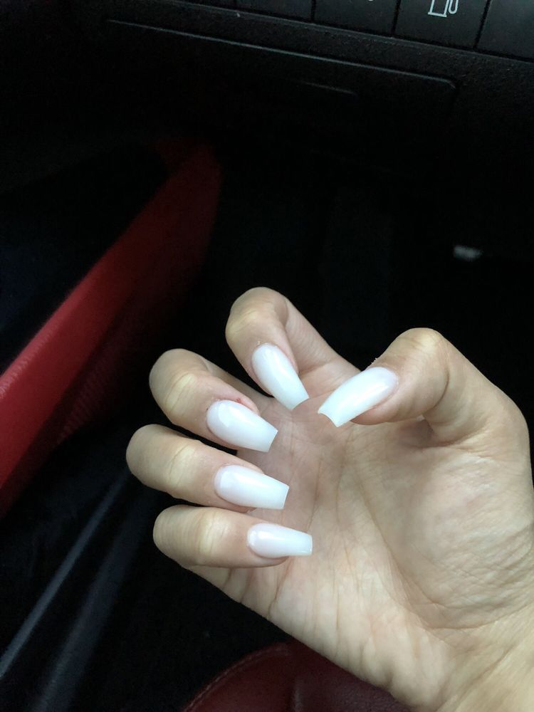 milky white nails (color powder) - Yelp