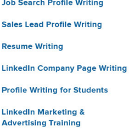 linkedin profile resume writing services business consulting