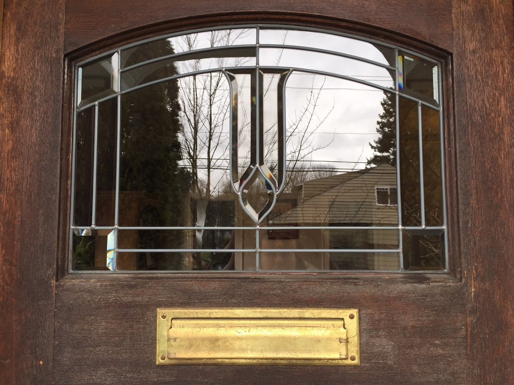 Fixed Leaded Glass Window On Our Front Door After Steves Magic Yay