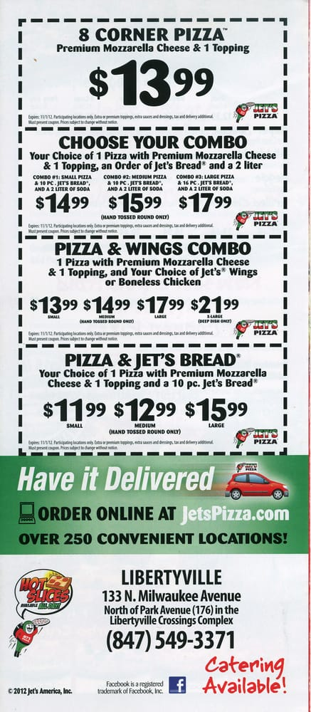 photo relating to Jets Pizza Coupons Printable named Printable discount coupons. - Yelp