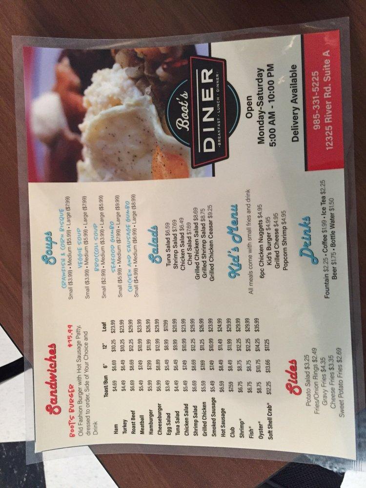 Boot's Diner: 12325 River Rd, Luling, LA