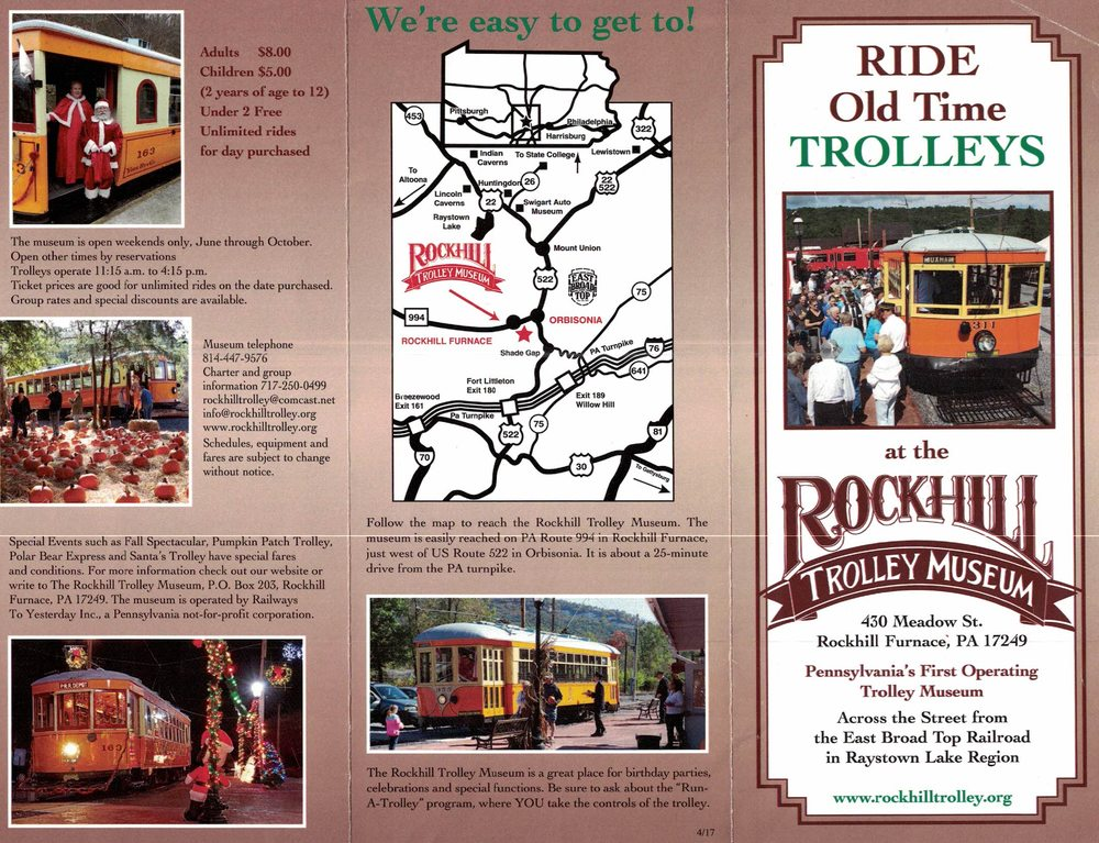 Rockhill Trolley Musem: 430 Meadow St, Rockhill Furnace, PA