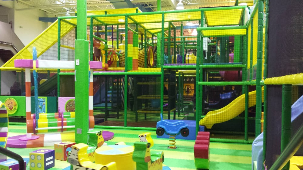 Play structure as viewed from parent parking area - Yelp