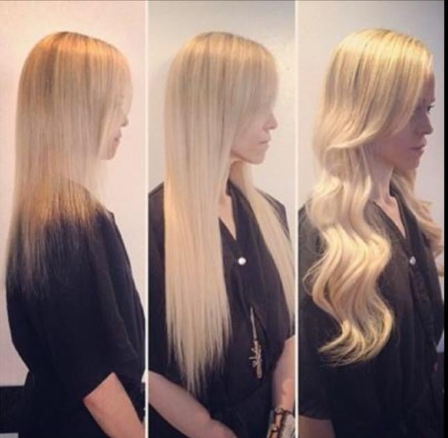Before And After Hair Extensions Adding Extensions For Thickness