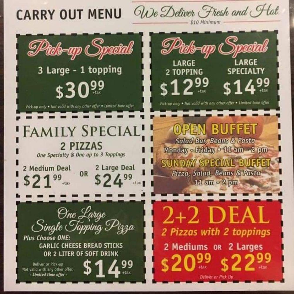 Patio Pizza & Subs: 140 S Main St, Avinger, TX