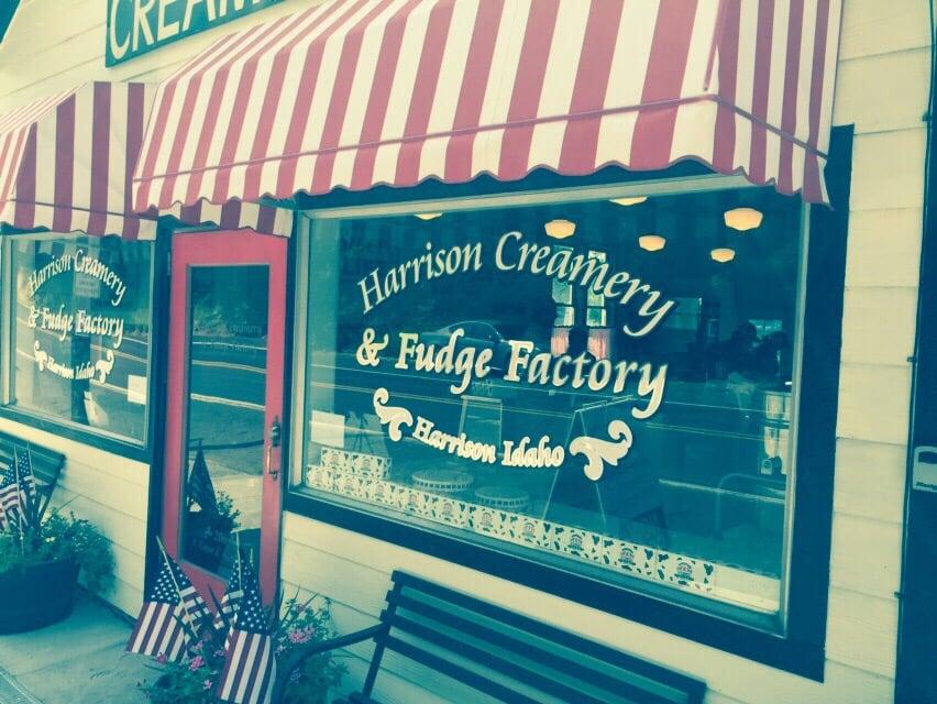 Harrison Creamery and Fudge Factory: 206 S Coeur D'Alene Ave, Harrison, ID