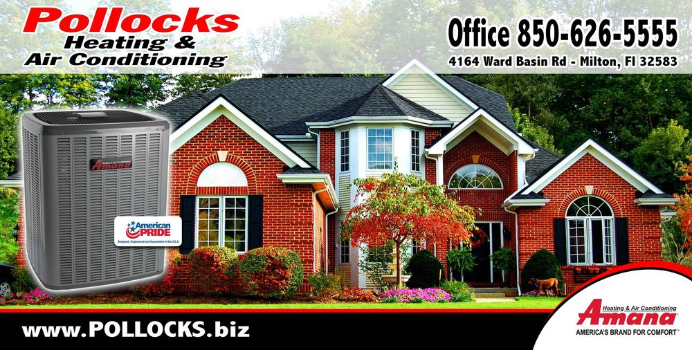 Pollock's Heating & Air Conditioning Inc: 4164 Ward Basin Rd, Milton, FL