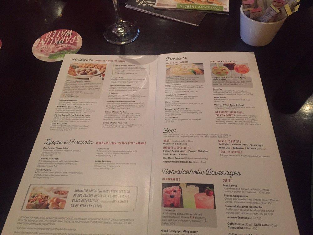 Olive Garden Catering Menu: Yelp