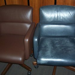 Photo Of Total Leather Care   Lakeside, CA, United States. Conference Chairs  Refinished