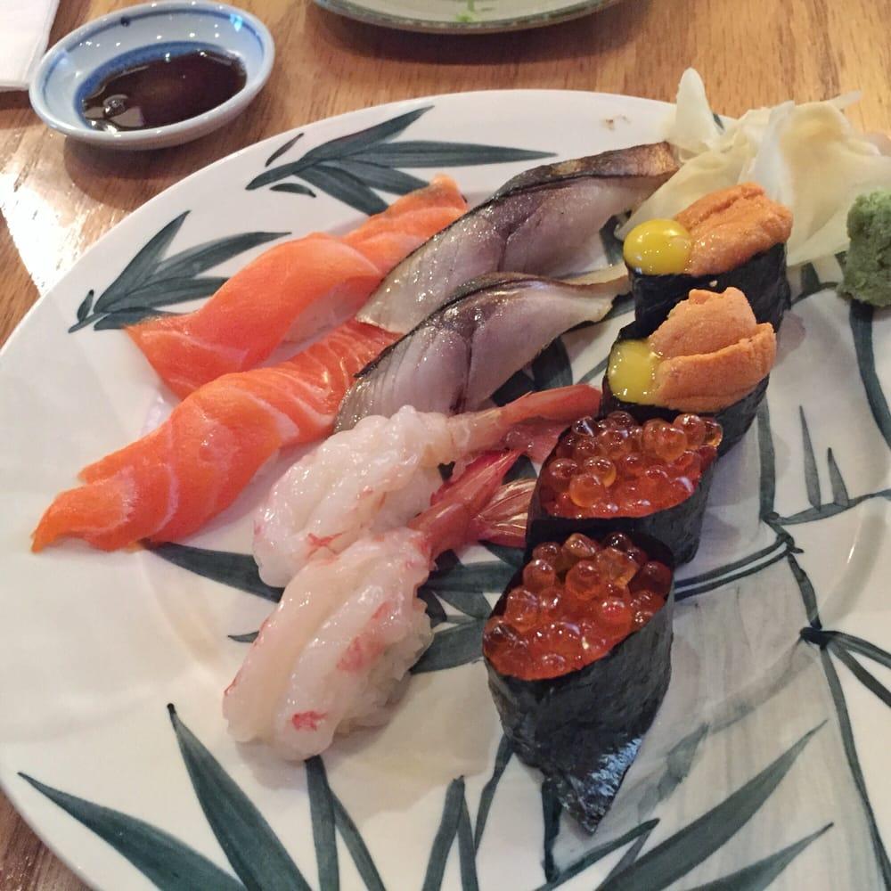 Nigiri sake amaebi saba ikura uni yelp for Akane japanese fusion cuisine