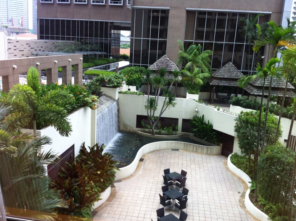 A Nice View Partial Of The Waterfall Terrace By The Swimming Pool And Fitness Center Yelp
