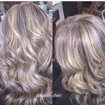 Blended Grey Hair Using Highlights No Color Applied To