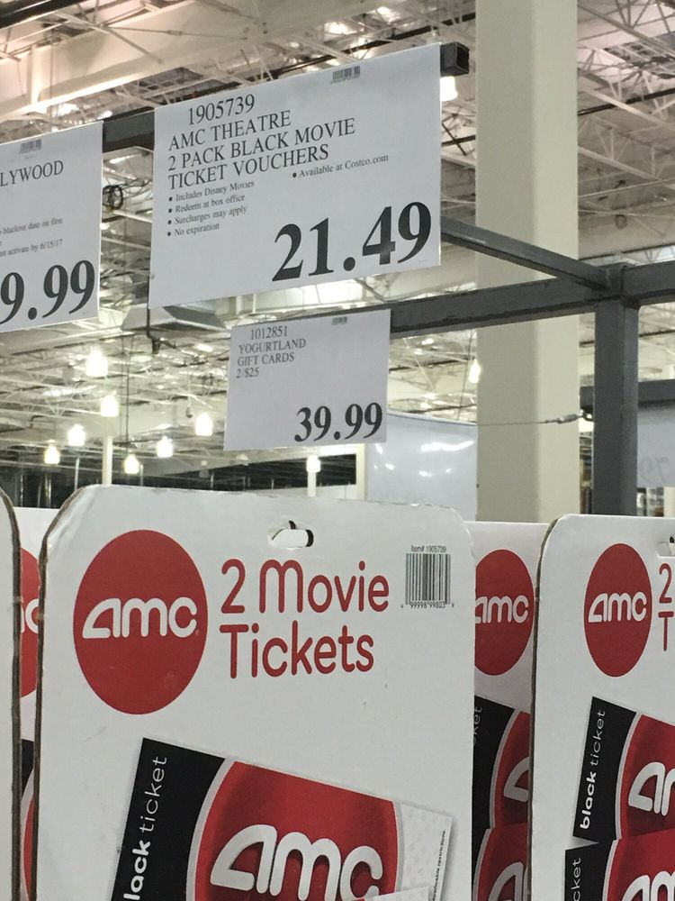 9/29/16 (mon): Costco is back to selling AMC movie tix!! But