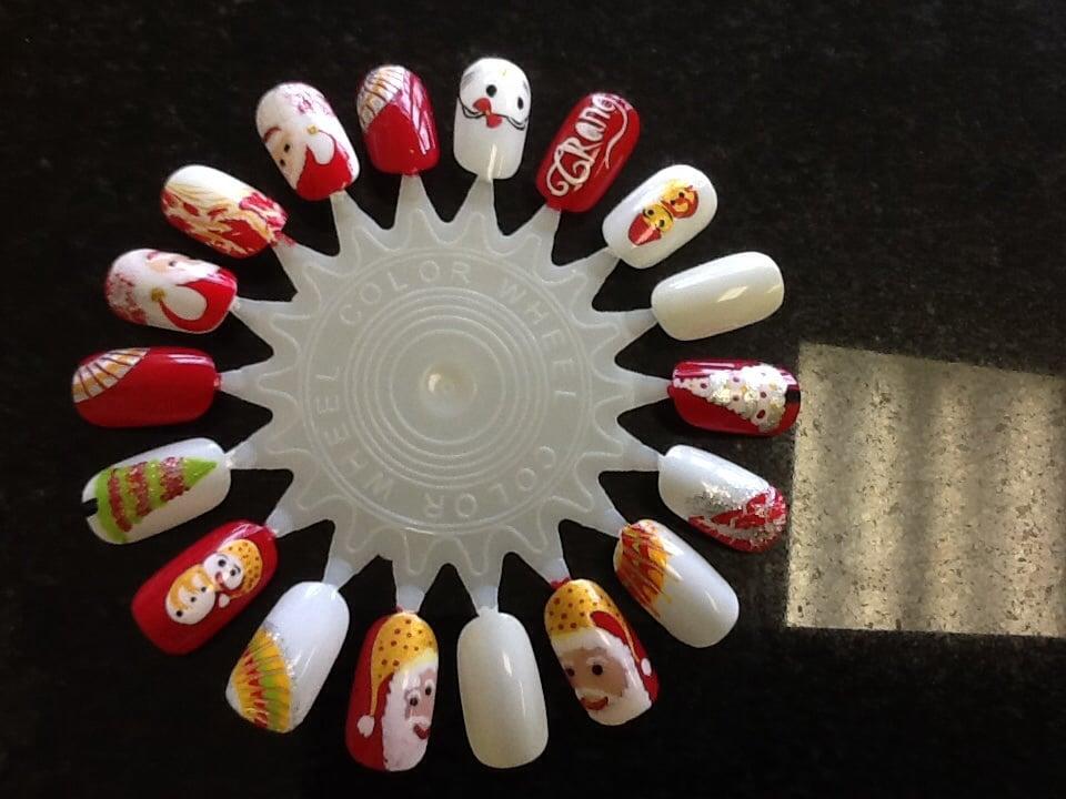 Christmas nail art design - Yelp