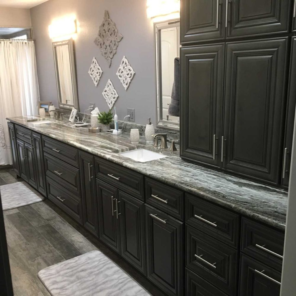 Kitchens Cabinets To Go: Kensington Mist Grey Cabinets: Vanity With Countertop