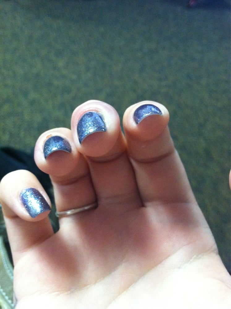 My ugly feet but pretty gel nails! - Yelp