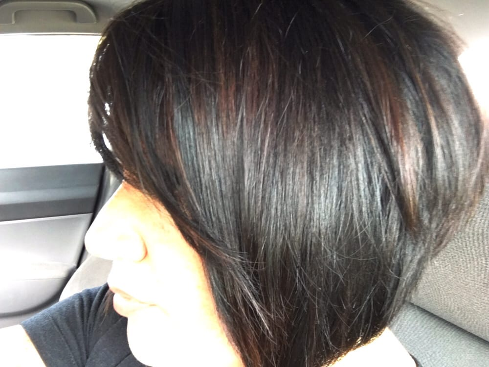 Dark caramel highlights on black hair with a single process the photo of adore salon merritt island fl united states dark caramel highlights pmusecretfo Image collections