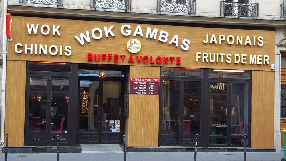 wok gambas pan asian 4 rue tienne marcel etienne marcel montorgueil paris france. Black Bedroom Furniture Sets. Home Design Ideas