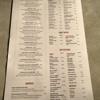 Table Photos Reviews American New - Table 23 menu