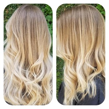 Blonde Balayage Haircut And Style By Stefani Pitts Yelp
