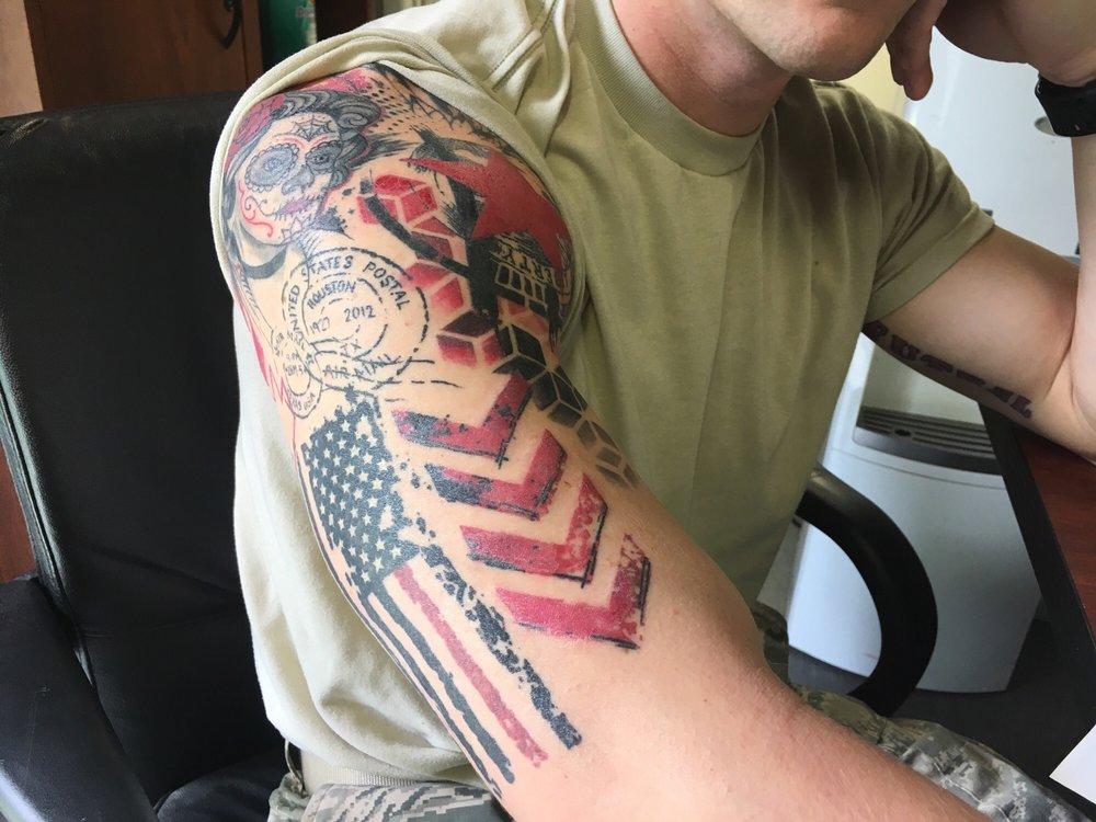 Road To Dreams In Trash Polka Style Tattoo By Enhancertattoo
