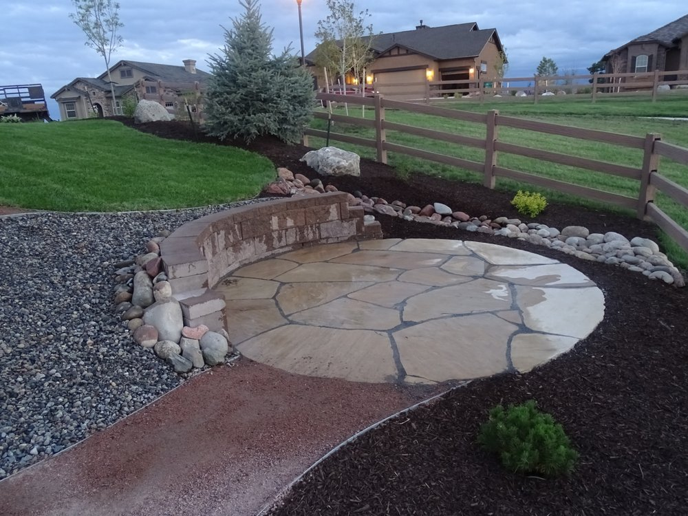 Rc Retaining Walls : Flagstone patio with retaining wall yelp