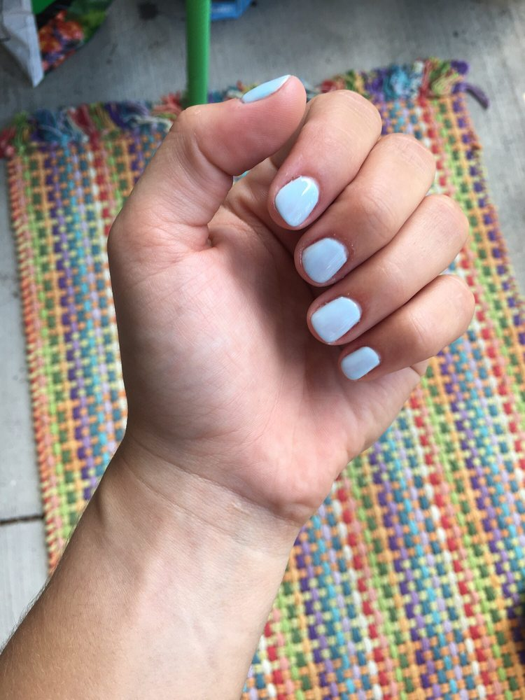 Very well done gel manicure. No more ugly dry cuticles/skin around ...