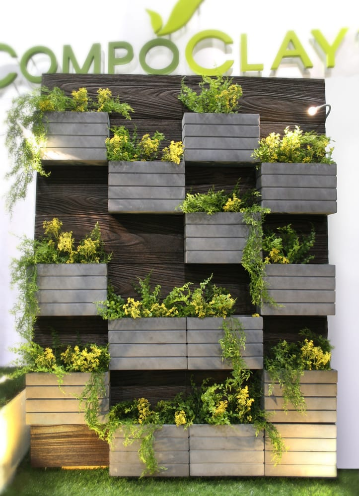 Compoclay canyon living wall planter yelp for Living wall planter