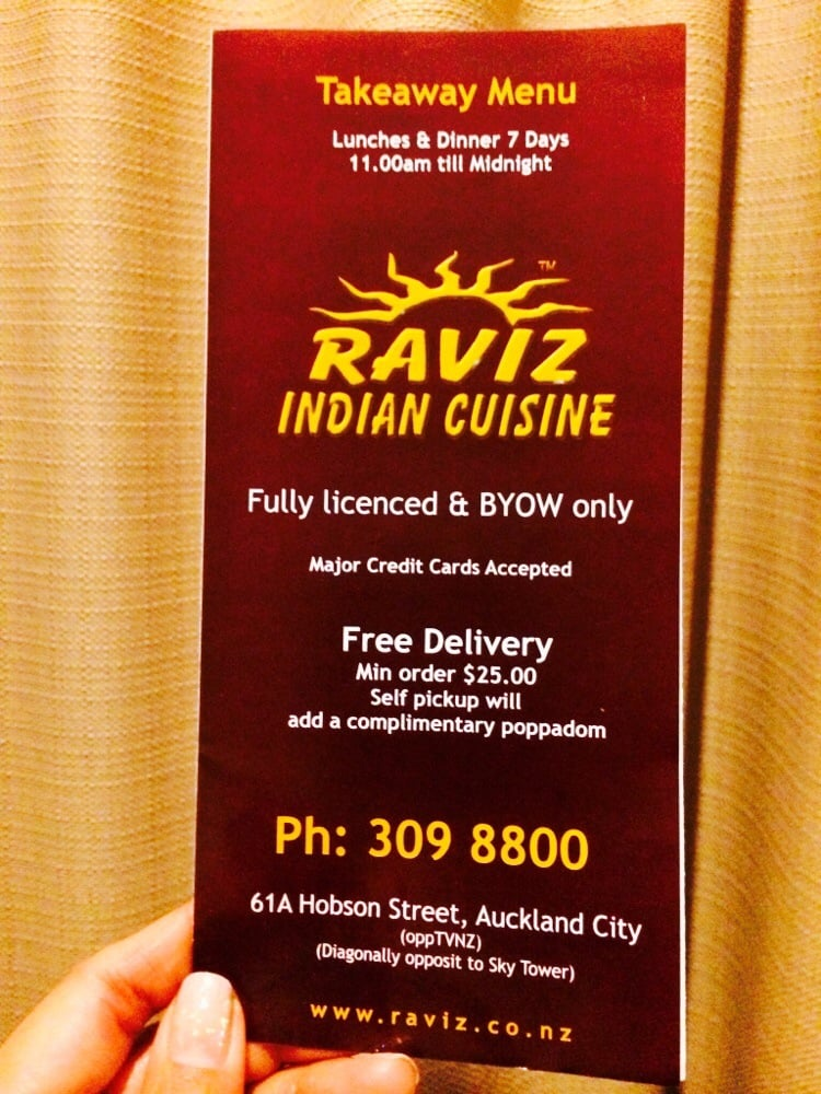 Raviz indian cuisine indian 61a hobson st auckland for Ajadz indian cuisine auckland