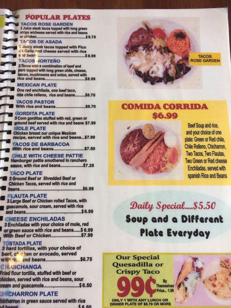 The Rose Garden Restaurant: 26 E Washington St, Anthony, TX