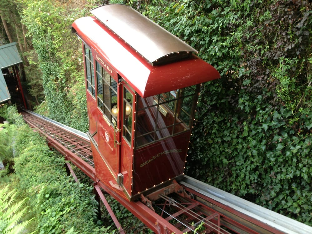 Photo Of Shadowbrook Capitola Ca United States Cute Trolley Elevator Down To