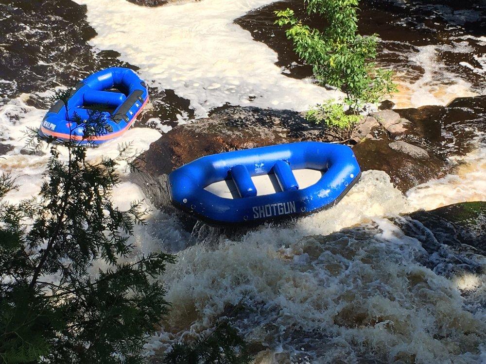 Big Smokey Falls Rafting: N935 Silver Canoe S, Keshena, WI