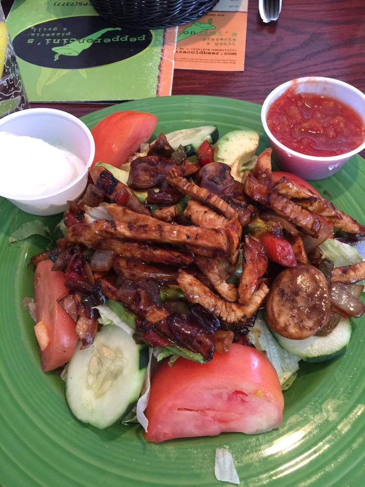 Photo of Pepperoncini's - Milford, MA, United States. Chicken fajita salad