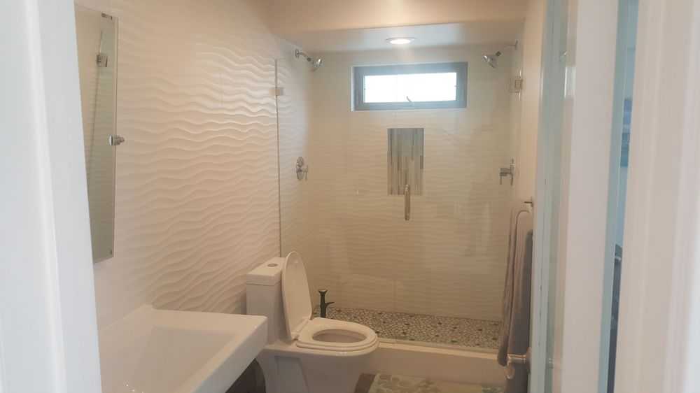 Bathroom blow up pic and see tile work. Crazy good!!! - Yelp