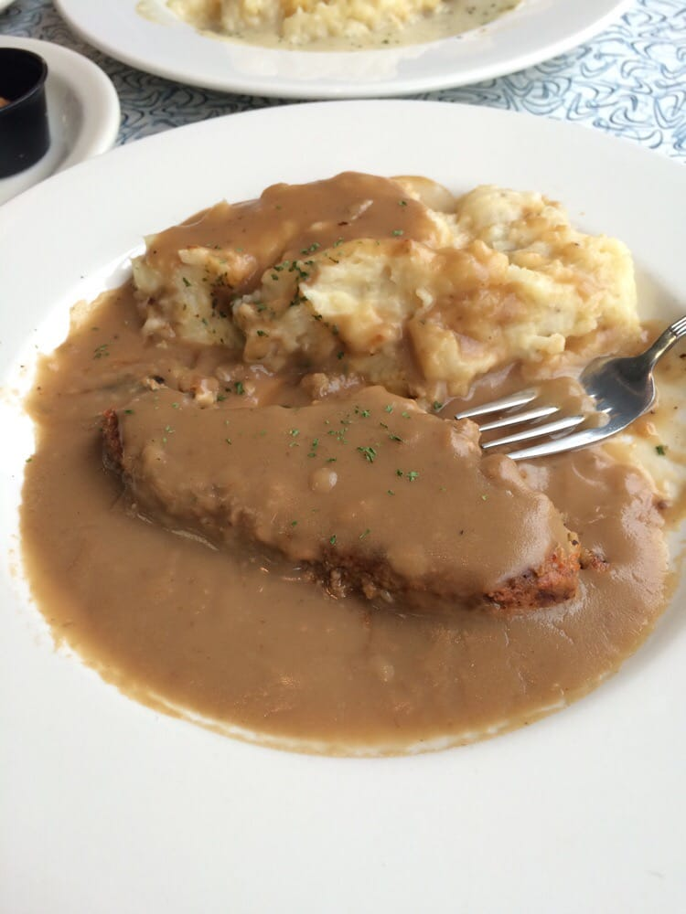 Hot Meatloaf Sandwich With Mashed Potatoes And Gravy Yelp
