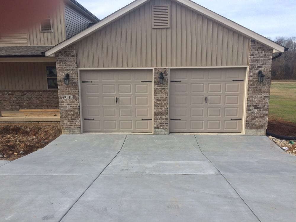 These are two 8 x 8 garage doors with the dress up kits for Dress up your garage door
