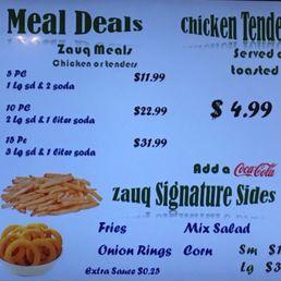 Zauq Halal Kitchen Menu