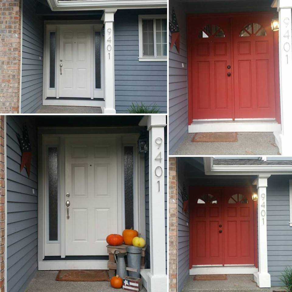 New Front Doors Installed By McLedon 39 S Home Services White And Old Dou