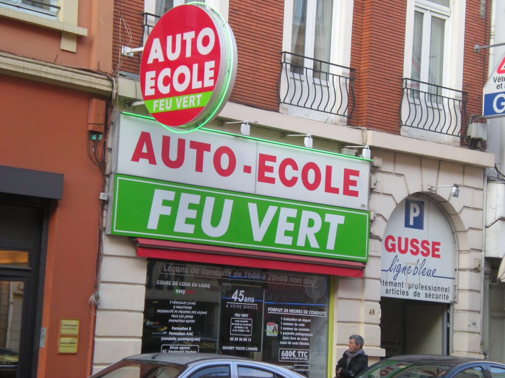 auto ecole feu vert driving schools 48 rue l on gambetta centre lille france phone. Black Bedroom Furniture Sets. Home Design Ideas