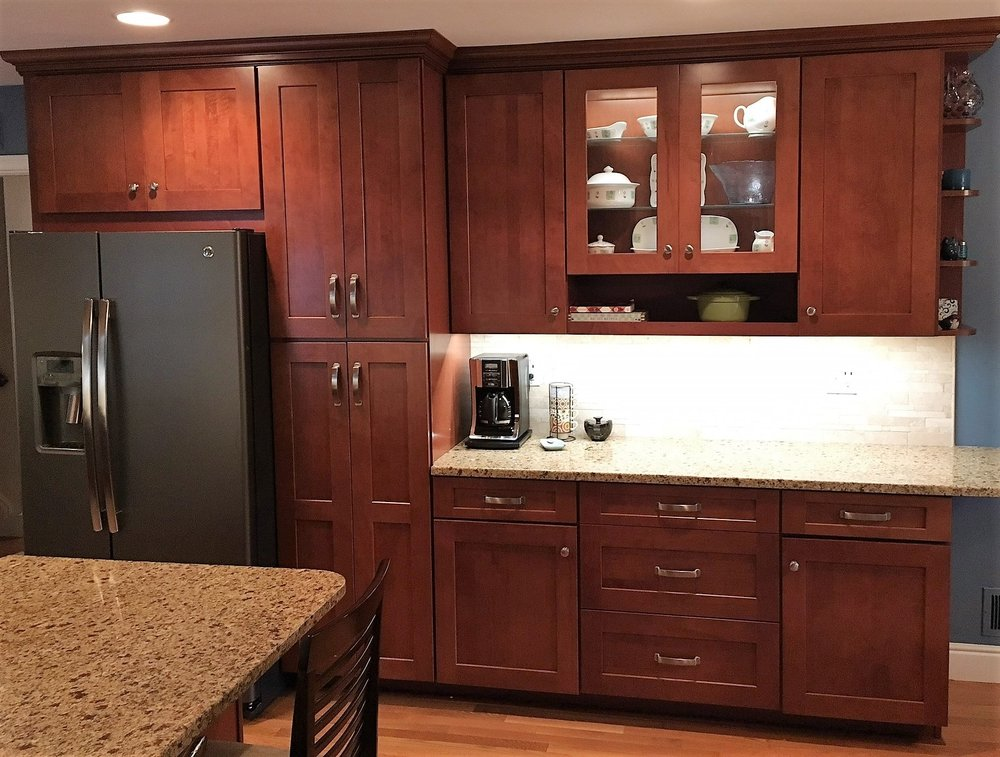 Outstanding West End Kitchen Remodel Maple Auburn Glaze Shaker Cabinets Home Interior And Landscaping Elinuenasavecom
