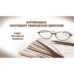 Affordable Document Preparation Services Legal Services - Legal document preparation services