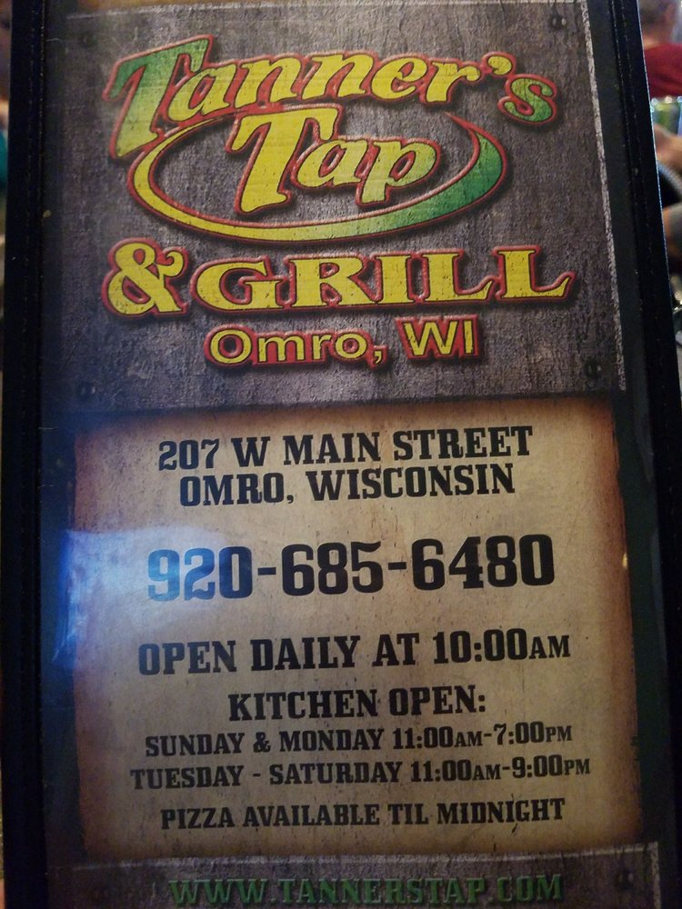 Tanner's Tap & Grill: 207 W Main St, Omro, WI