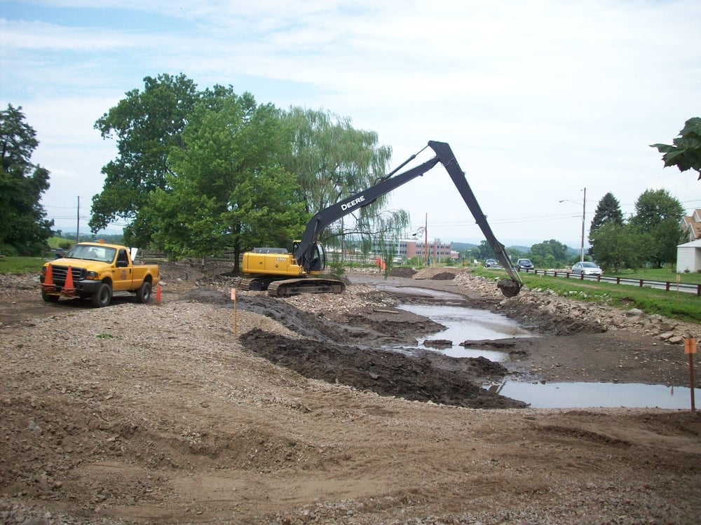 Dredging pond digging upstate greenville sc yelp for Pond companies near me