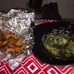 Photo Of Marie African Restaurant Houston Tx United States Ndole With Plantains