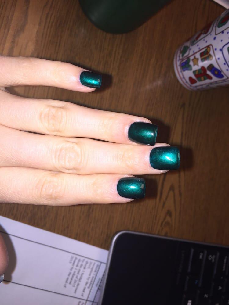 Emerald chrome gel nails - Yelp