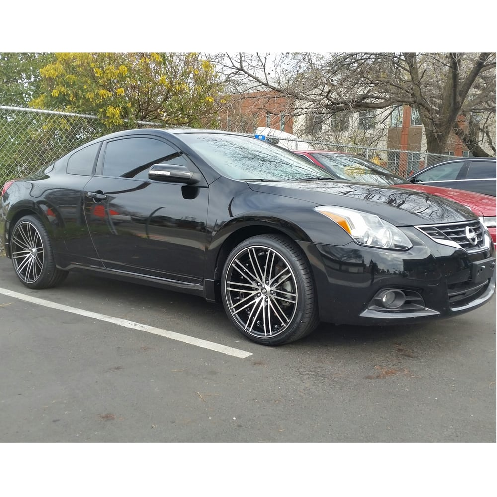 """20"""" rims and tires on a 2012 nissan altima coupe - yelp"""