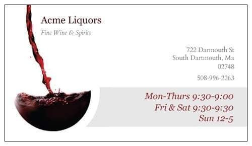 Acme Liquors: 772 Dartmouth St, South Dartmouth, MA